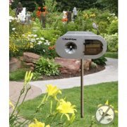 solar-sound-bird-deterrent-in-garden